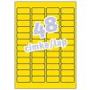 Avery Etikett címke -L6041-20- 45,7x21,2mm  SÁRGA  AVERY