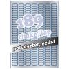 Avery L6008-20- 25,4x10mm EZÜST AVERY 20ív/dob Etikett