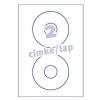 Avery L6043-25- 117mm CD/DVD-re FEHÉR AVERY 25lap/dob Etikett