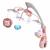BABY MIX Műanyag körhinta vetítővel Baby Mix szafari rózsaszín