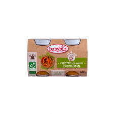 Babybio Bio süt?tökös-répás püré 2 * 130 g bébiétel