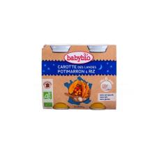 Babybio Jó éjszakát! - Bio répás-süt?tökös rizs 2 x 200 g bébiétel