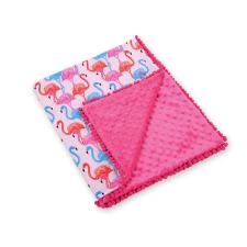 BabyLion BabyLion Prémium két oldalú Minky takaró - Rózsaszín - Flamingo lakástextília