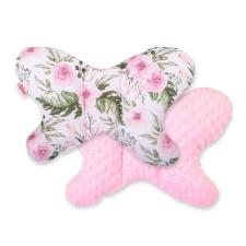 BabyLion BabyLion Prémium Minky pillangó párna - Rózsaszín virágok