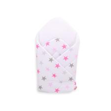 BabyLion BabyLion Prémium pólya - Fehér - Rózsaszín csillagok