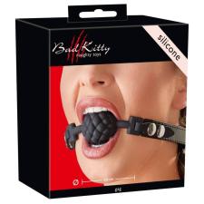 Bad Kitty - gömbös szilikon szájpecek (fekete) szájpecek