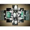 Balkys Trade Festett kép Margitvirág zöld háttéren 100x70cm RM2462A_5A