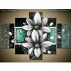 Balkys Trade Festett kép Margitvirág zöld háttéren 150x105cm RM2462A_5H