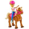 Barbie on the Go: Szőke hajú Barbie karamell színű pónival