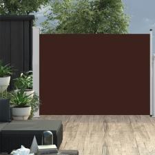 Barna behúzható oldalsó teraszi napellenző 100 x 500 cm kerti bútor