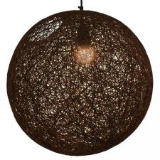 Barna gömb alakú függőlámpa 45 cm E27 világítás