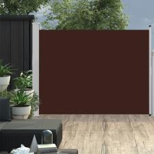 Barna kihúzható oldalsó teraszi napellenző 140 x 500 cm kerti bútor