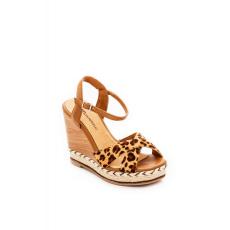 Barna Montonelli Prémium Valódi Bőr női barna magassarkú cipő 39 /kac