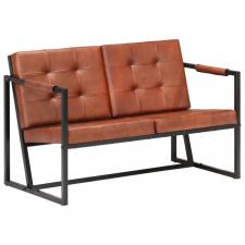 Barna valódi kecskebőr kétszemélyes kanapé bútor
