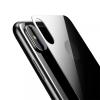 Baseus 3D edzett üveg és fekete hátlap fólia iPhone X készülékhez