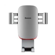 Baseus Metal Age autós telefontartó szellőzőrácsra Baseus - Ezüst mobiltelefon kellék