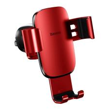 Baseus Metal Age Gravity Autós tartó Phone Holder Air Outlet piros (SUYL-D09) mobiltelefon kellék