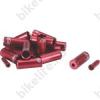 BBB BCB-99 CableCap bowdenház kupak szett 6db 5mm-es, 10 db 4mm-es, 4db alu vég, piros
