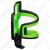 BBB DualAttack kulacstartó, BBC-40, fekete/zöld, kompozit,42g,nyílása jobbra és balra is fordítható