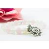 BBH Inspiration Életerő/energia karkötő opálból és rózsakvarcból, napocska medállal