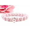 BBH Inspirations Swarovski pastel rose gyöngy karkötő Swarovski rose gyöngy medállal