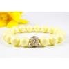 BBH Inspirations Swarovski pastel yellow gyöngy karkötő, golden shadow kristály gömbbel