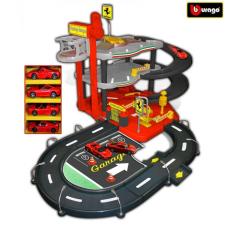 Bburago 2017 Bburago Ferrari Parking Garage négy játékautóval 31218 autópálya és játékautó