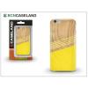 BCN Caseland Apple iPhone 7 Plus/iPhone 8 Plus szilikon hátlap - BCN Caseland Wooden Lines - yellow