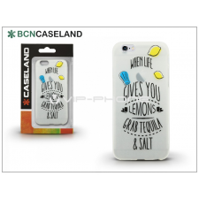 BCN Caseland Apple iPhone 7 szilikon hátlap - BCN Caseland Lemons - transparent tok és táska
