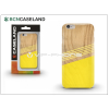 BCN Caseland Apple iPhone 7 szilikon hátlap - BCN Caseland Wooden Lines - yellow