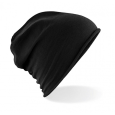 Beechfield Uniszex téli sapka Beechfield Jersey Beanie Egy méret, Fekete