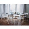 Beliani Bővíthető modern étkezőasztal 150/195 cm fehér SANFORD