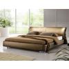 Beliani Franciaágy - Kétszemélyes ágy - Bor ágy, ágyráccsal - Aranyszínu - 180x200 cm - PARIS