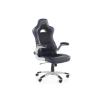 Beliani Kényelmes irodai szék fekete kék színben MASTER