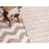 Beliani Kézzel készült szőnyeg bézs színben 160 x 230 cm TUNCELI