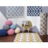Beliani Modern mintás szürke szőnyeg 140x200 cm ZILE