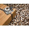 Beliani Modern patchwork szőnyeg 160x230 cm barna-bézs KONYA