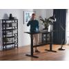 Beliani Praktikus Íróasztal fekete kézi magasságállítás 180x80 cm UPLIFT