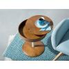 Beliani Sötétbarna dohányzóasztal - kerek - hajlított fa - OREGON