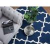Beliani Sötétkék pamut szőnyeg 80x150 cm - SILVAN