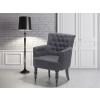 Beliani Sötétszürke kárpítozott fotel – ALESUND