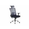 Beliani Szürke-fekete irodai szék - forgószék - NOBLE