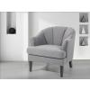 Beliani Világosszürke kárpitozott fotel - ELVERUM