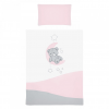 Belisima 5-részes ágyneműhuzat Belisima Teddy Bear 90/120 rózsaszín
