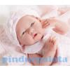 Berenguer Élethű Berenguer Játékbabák - újszülött lány rózsaszín kötött ruhában és sapkában 36cm