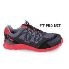 Beta 7340R/47 jól szellőző mesh szövet munkavédelmi cipő nagyfrekvenciás PU betétekkel és hasítottbőr kéreg orr erősítéssel, 47 méret