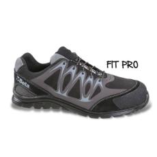 Beta 7341N/42 Mikro hasítottbőr munkavédelmi cipő, mérsékelten vízálló, nagyfrekvenciás PU betétekkel és védő erősítéssel a hasítottbőr orrnál, 42 méret
