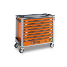 Beta C24SA-XL/9 - 2400SAXL9 kilencfiókos szerszámkocsi, borulásgátló rendszerrel, hosszú modell – narancssárga színben