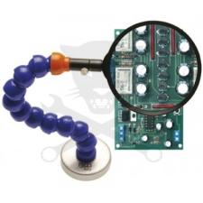 BGS Technic Nagyító  3x - mágnestalppal, flexibilis szárral D105 mm BGS (9-8372) mérőműszer