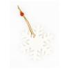 BigBuy Christmas Karácsonyfagömb 149537 Hópehely